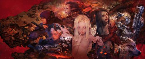 Dragon family by rabbiteyes