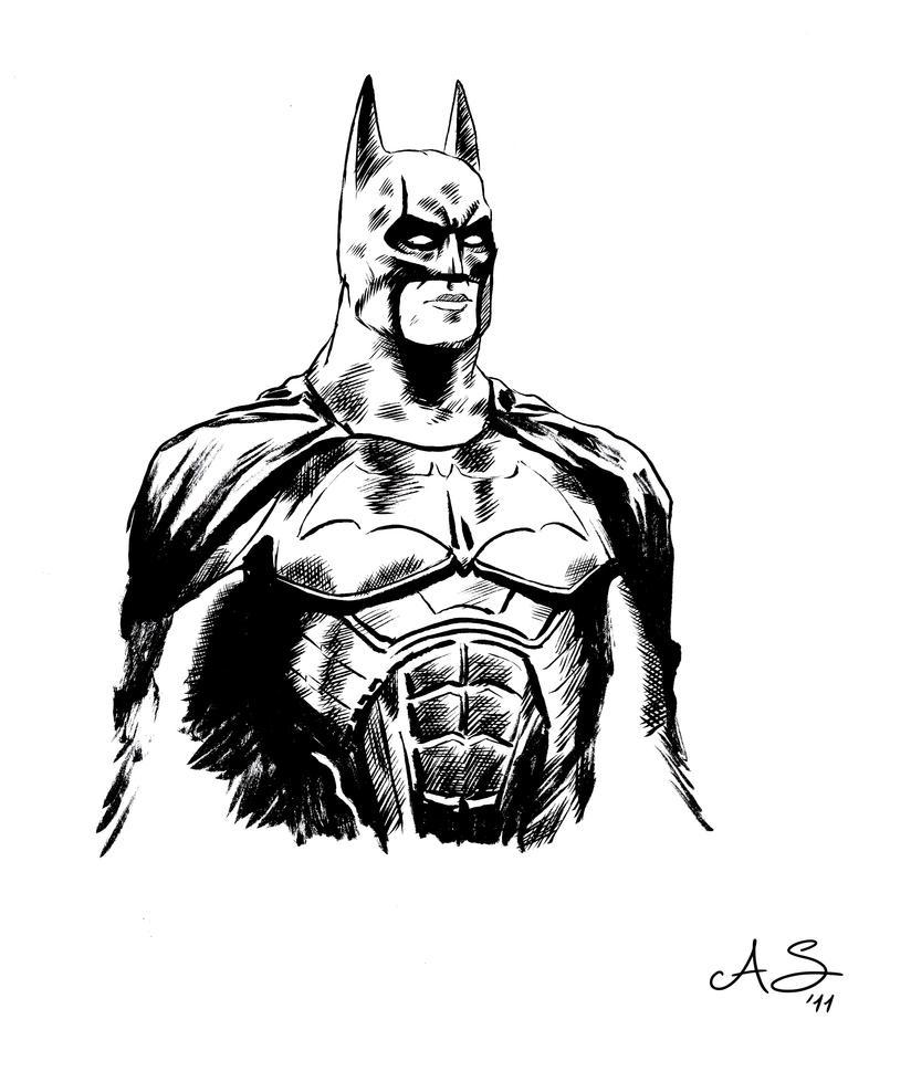 Batman inking test by AndreaSchepisi