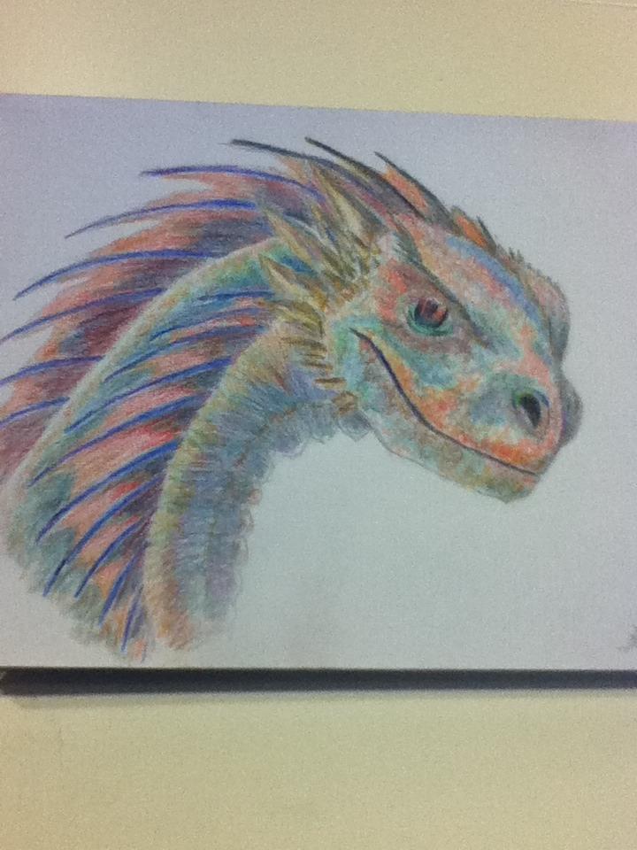 Drogon in colours! by Dragon-princess08
