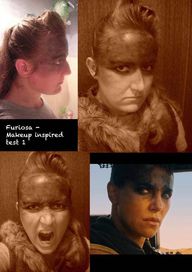 Furiosa Inspired makeup test 1 by Dragon-princess08