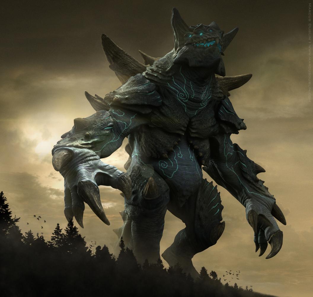 Kaiju Titanus DawnApproach Render