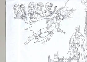 Batgirl in Action by ROSchwoe