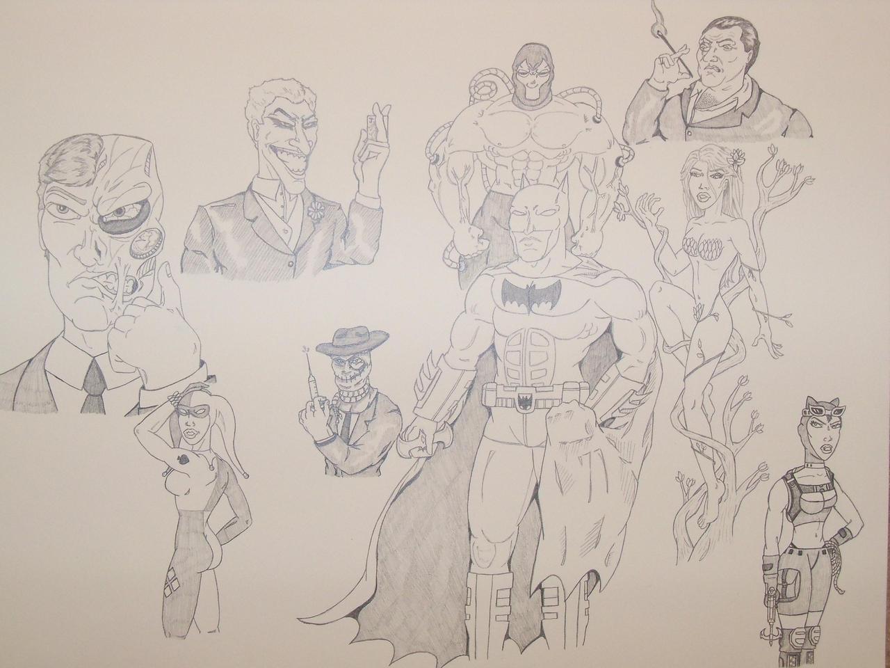 Batman Villains by ROSchwoe