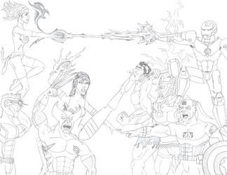 X-Men vs Avengers by ROSchwoe