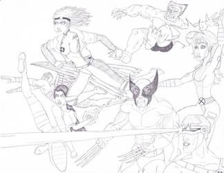 90s X-Men by ROSchwoe