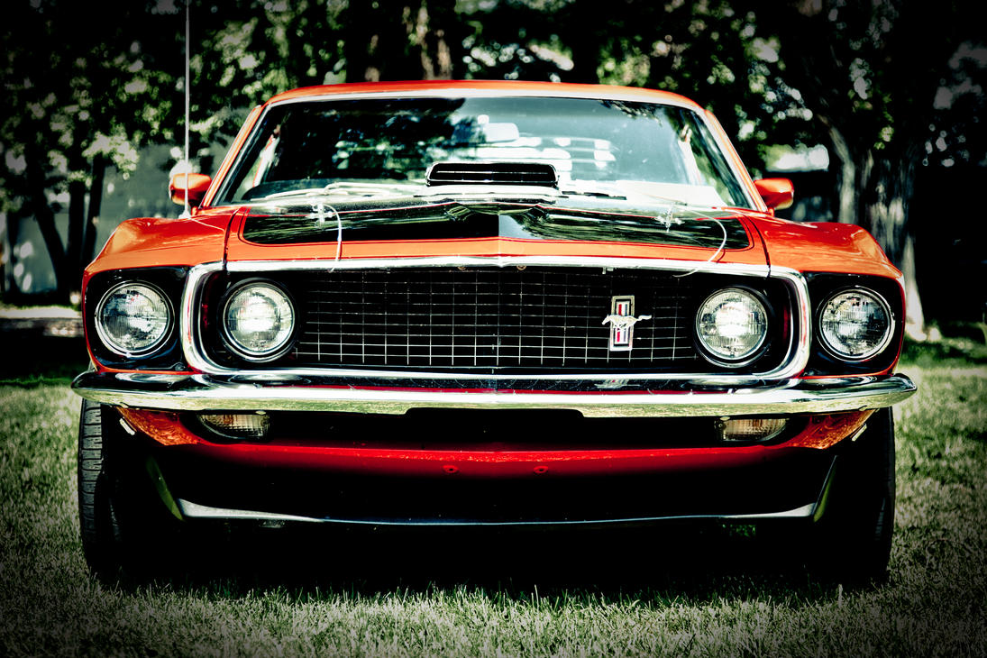 Mustang Mach 1 Front View By Rockriderz On Deviantart