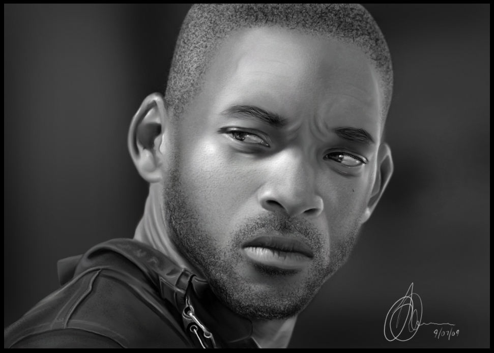 Will Smith Speedpainting by jackdarton