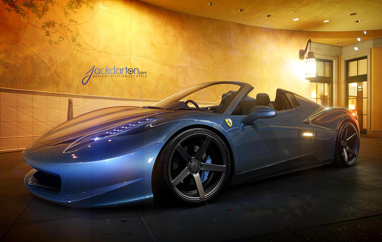 458 Italia Spyder by jackdarton