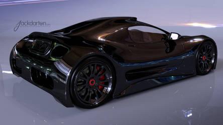 Concept car rear view by jackdarton