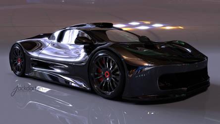 Concept car front view by jackdarton
