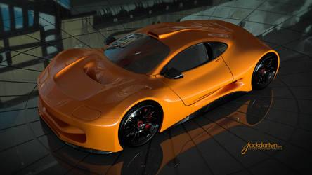 Concept car orange by jackdarton