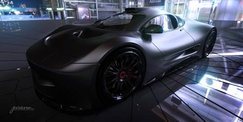 Concept car matte black by jackdarton