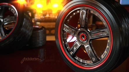Carbon Wheel Design by jackdarton