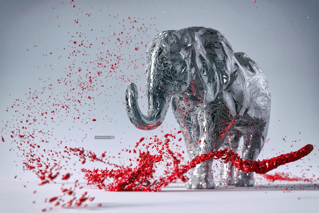 Elephant by jackdarton