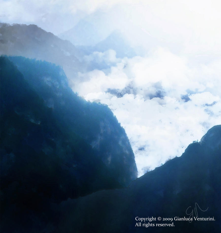 Cloudy Mountain by biancomanto