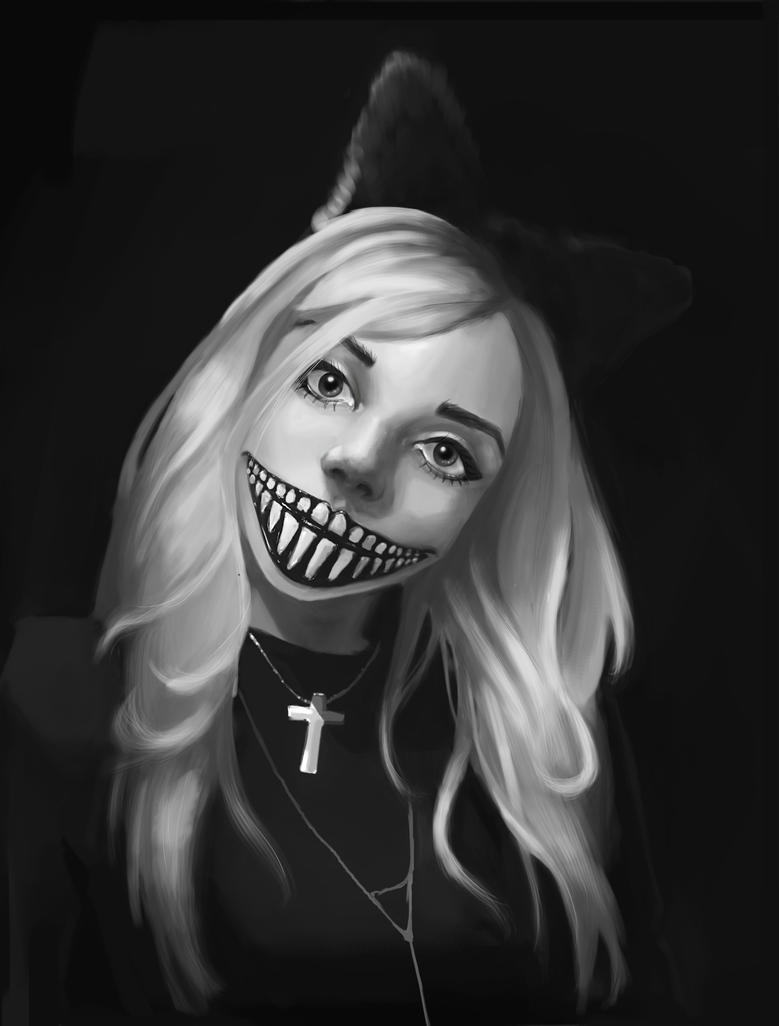 Practice2. creepy smile by TragixPrincess on DeviantArt