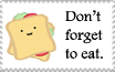 Don't Forget to Eat Stamp by LisaJennifer