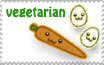Vegetarian Stamp by LisaJennifer