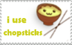 I Use Chopsticks Stamp by LisaJennifer
