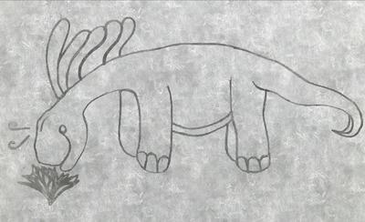 Amargosaurus Sketch