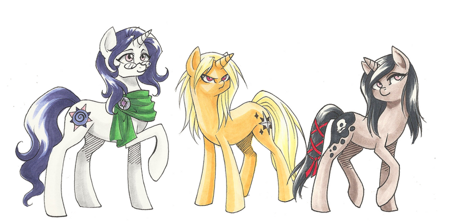 Unicorn Sisters by Valkyrie-Girl