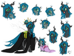 Commission - Queen Chrysalis and Princess Pupa