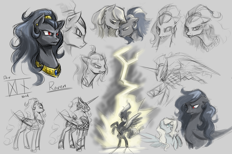 Raven Sketches by Valkyrie-Girl