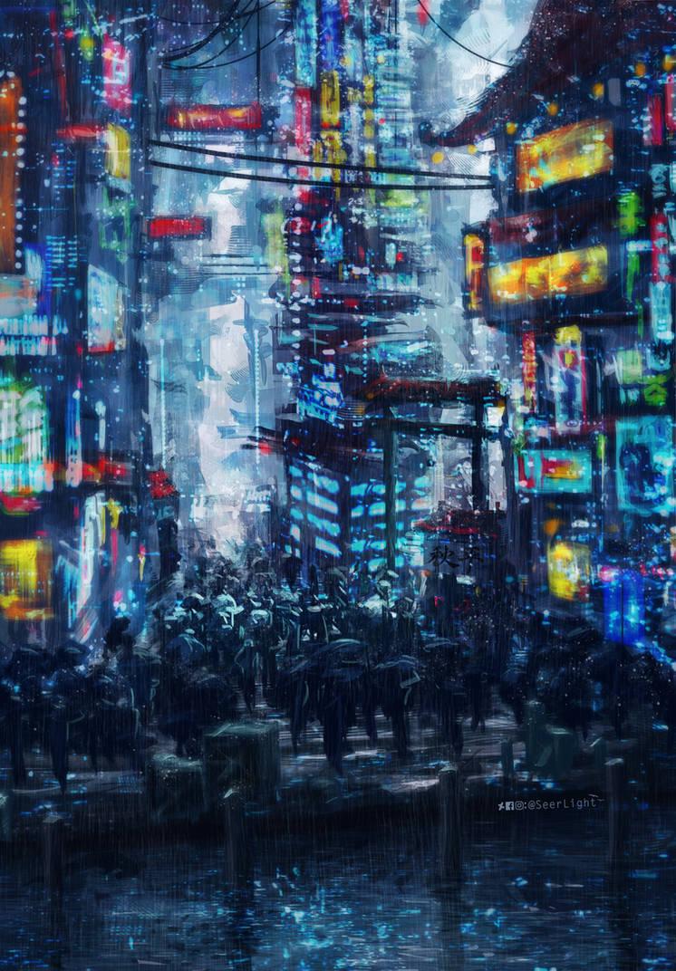 Cyberpunk City by SeerLight