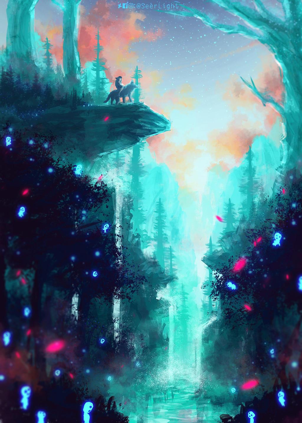 Mononoke Forest by SeerLight