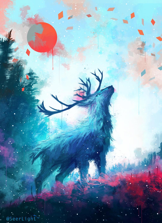 iced deer by seerlight on deviantart