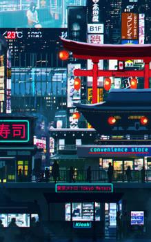 Cyberpunk Downtown