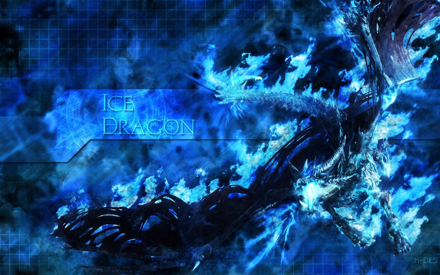 Ice Dragon Wallpaper by RenlarZ on DeviantArt