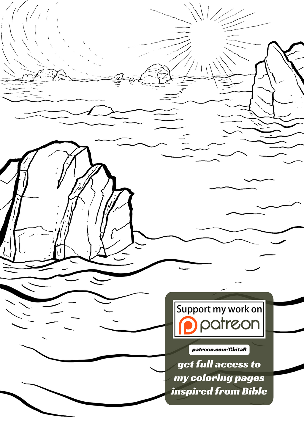 002 Genesis 1:2 - coloring page - Bible by GhitaBArt on ...