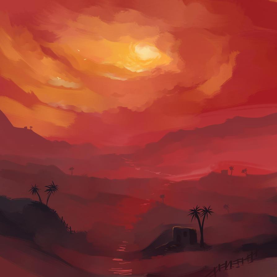 Sunset by GhitaBArt