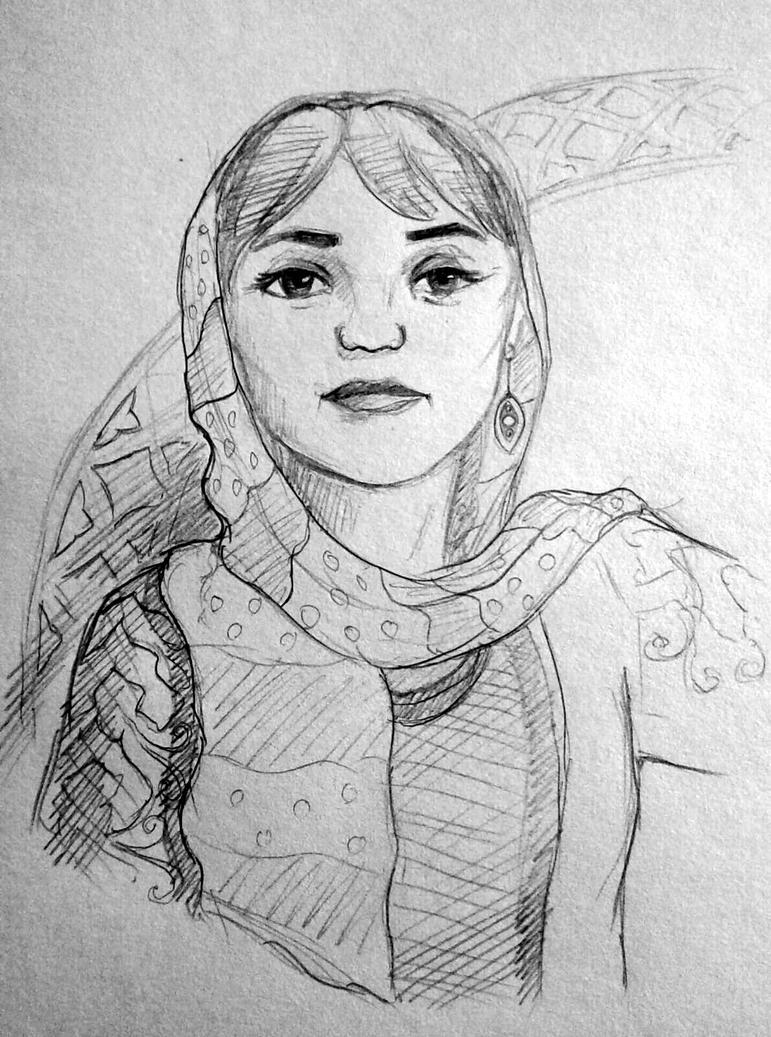 Persian woman Sanaz by GhitaBArt