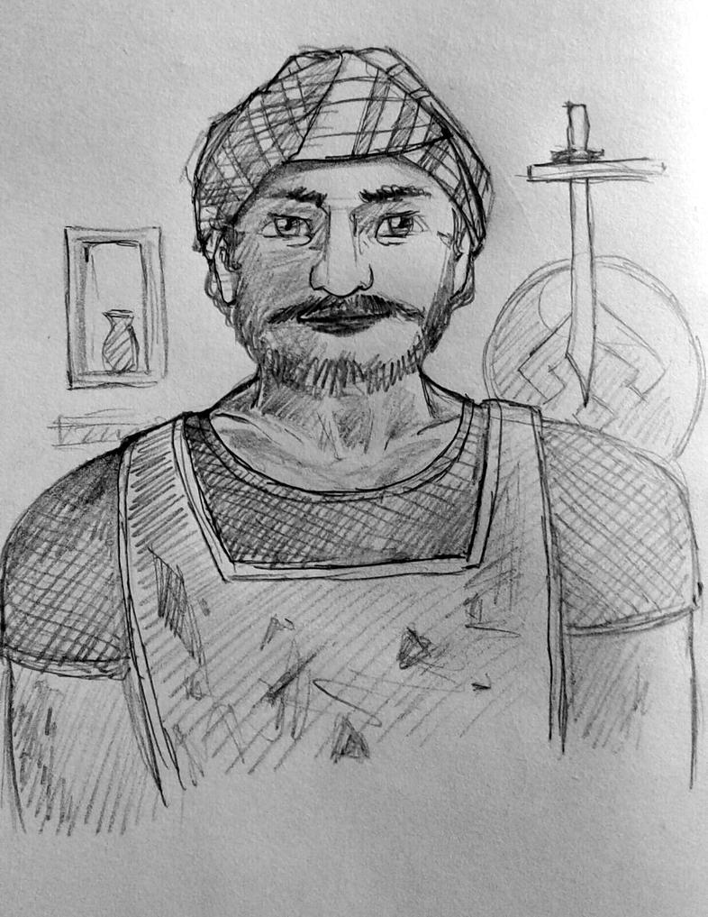Persian man Arash by GhitaBArt
