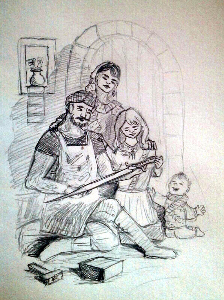 Ancient persian family by GhitaBArt