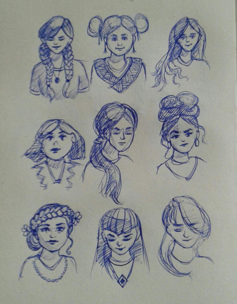Girls sketches by GhitaBArt