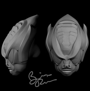 alien head by rio3d