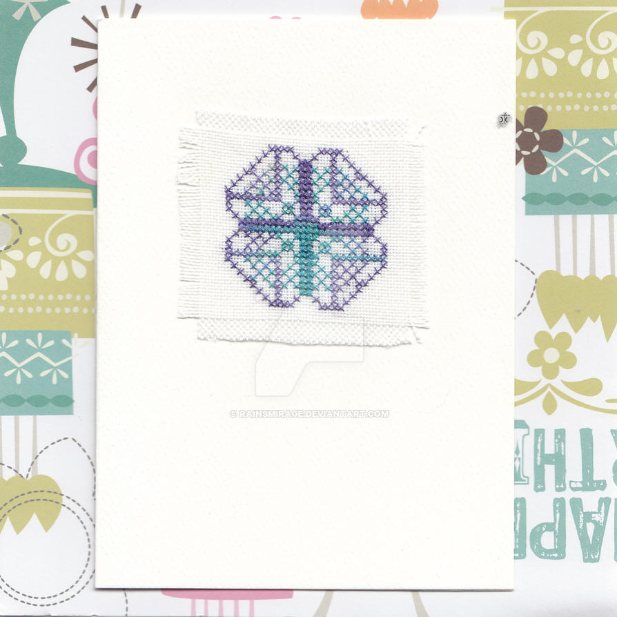 Jade Quilt Square Card by RainsMirage