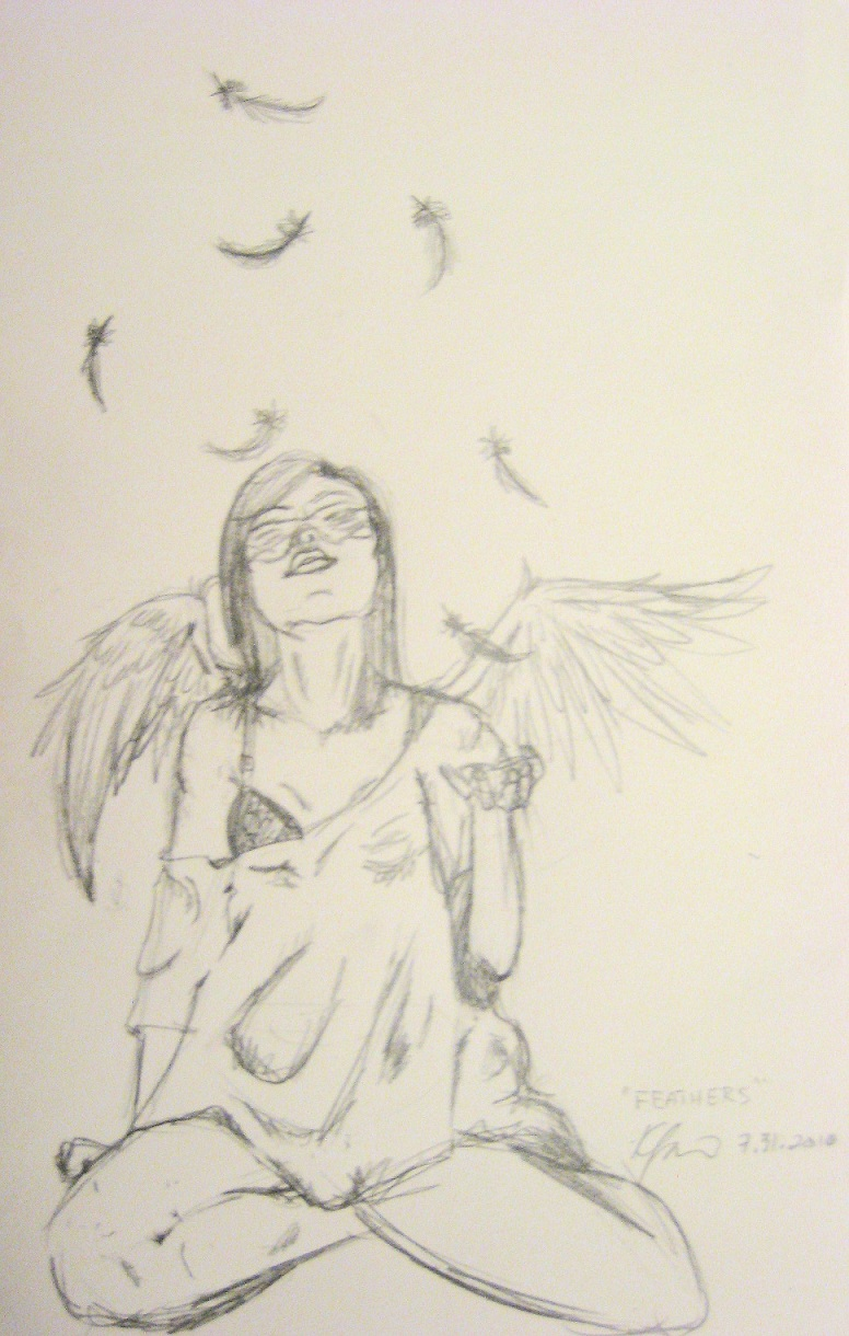 feather sketch by kfannerd713 traditional art drawings fantasy 2010 ...