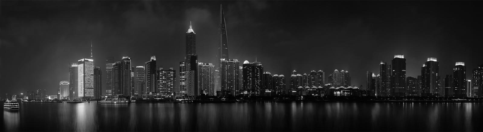 panorama shanghai night by the flowerman d2esozm