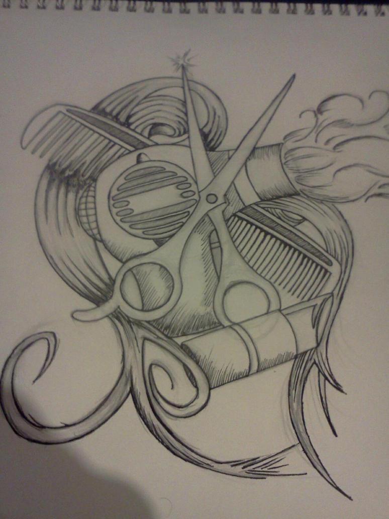 cosmetology tattoo by brentsherlockart on deviantart. Black Bedroom Furniture Sets. Home Design Ideas