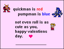 megaman valentines day card by LRpaul