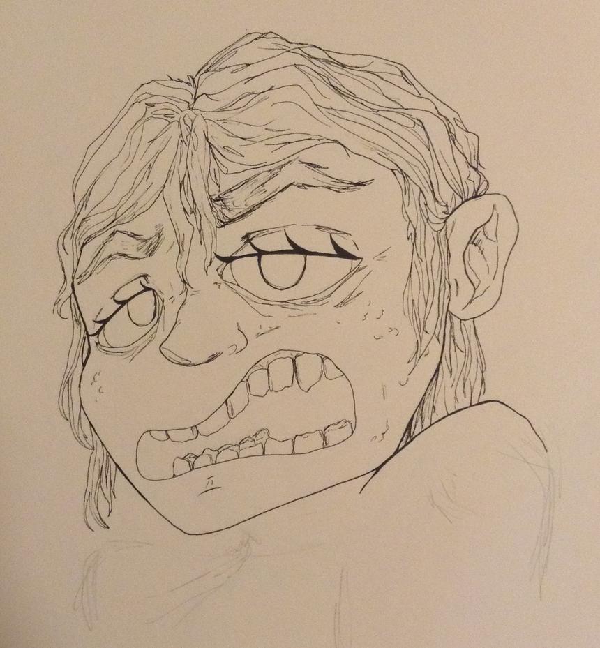 A Weird Face by WarmishWinter