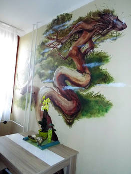Dragontree wall painting