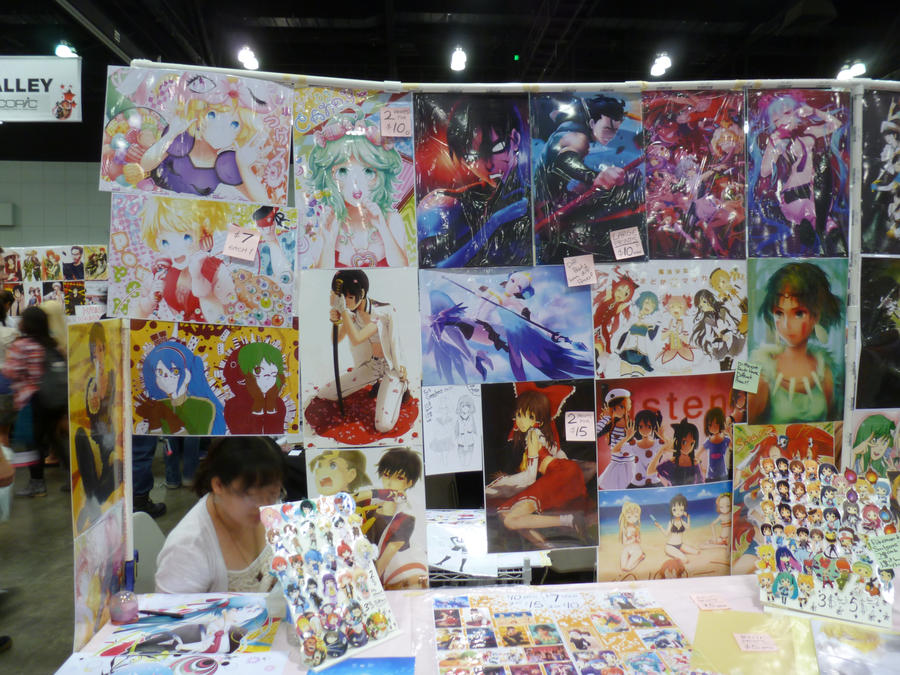 Anime Expo 2012: Artist's Alley Booth by bluupanda