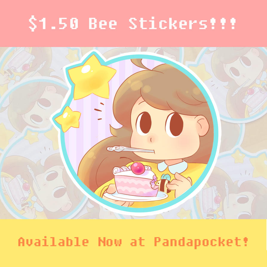 Bee Sticker 1 Ad by bluupanda