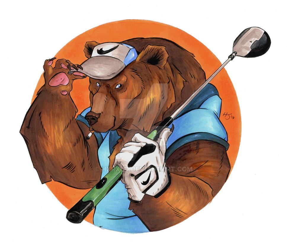 Golf Bear by Hxrxld