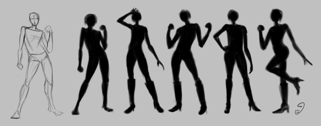 Gesture Silhouette :) by mary3m